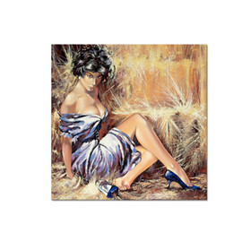 Dessiner La Mode Sexy Pas Cher-Modern Canvas Artwork Sexy Women Drawing Canvas Printing Fashion Canvas Wall Décor pour la maison et le bureau
