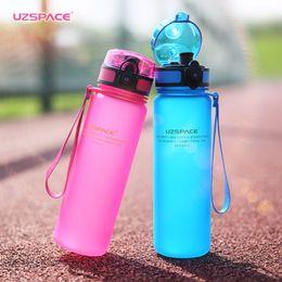 $enCountryForm.capitalKeyWord NZ - Uzspace Sport Water Bottle Tritan Material Plastic Drinkware Protein Shaker Camping Hiking My Drink Bottle Portable 500Ml 1000Ml Bpa Free
