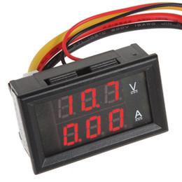 Car Voltmeter Ammeter NZ - YB27VA DC 0-100V 10A Red LED Dual Display Ammeter Car Voltmeter Volt Amp Meter for Cars Motorcycles CEC_648