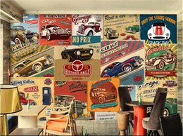 Custom Cars photos online shopping - 3d room wallpaper custom photo mural vintage car posters landscape decor painting d wall murals wall paper for walls d living room
