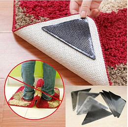 4pcs Set Rug Carpet Mat Grippers Pliers Ruggies Carpet Non Slip Grip Pad  Corners Anti Skid Washable Reusable Silicone Grip Mat