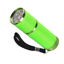 $enCountryForm.capitalKeyWord UK - New Nail Flashlight Mini 9 LED Uv Gel Curing Lamp Without Battery Portability Nail Dryer LED Flashlight Currency