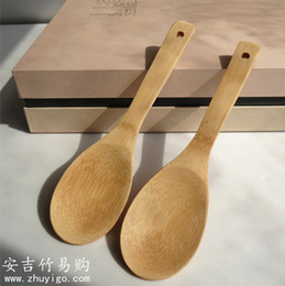 bamboo protection 2019 - Wholesale- Bamboo rice spoon rice shovel shovel spade natural bamboo spoon natural paint-free environmental protection a