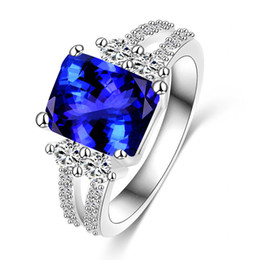 Discount Blue Diamond Engagement Rings For Women Blue Diamond