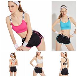 7f450167a7 woman wearing vests underwear 2019 - PINK Tracksuit Women Pink Letter Yoga  Suit Summer Sport Wear