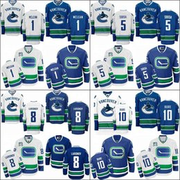 Men s youth women 2017 Vancouver Canucks Jersey 1 Kirk Mclean 5 Luca Sbisa  8 Joe Pavelski 10 Pavel Bure Hockey Jerseys Stitched size S-3XL d52269df2