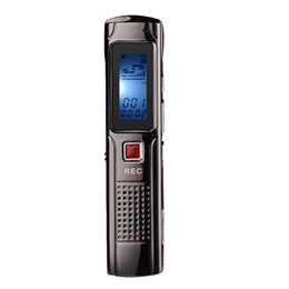 Mp3 player recording audio online shopping - 4GB GB Steel Stereo Recording Pen portable Mini Lcd display Digital Audio Voice Recorder with MP3 player Rechargeable mini Dictaphone