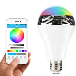 Discount smart music - Bluetooth 4.0 smart LED Bulb with speaker 3W E27 RGB Lamp Music Light Bulb cellphone controlled LED Bulb for Smartphones