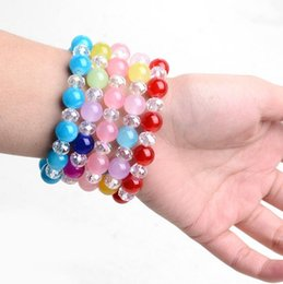 Discount japan presents Japan and South Korea han edition contracted ms crystal bracelet female round beads sweet birthday present clothing acce