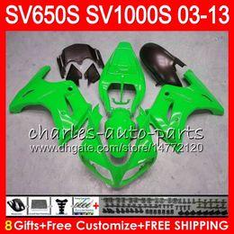 Pink fairings online shopping - 8Gifts For SUZUKI SV1000S SV650S NO45 green black SV1000 S SV650 S SV S S Fairing