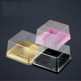 CupCake Cake box Container online shopping - Moon Cake Plastic Box Yolk Bread Biscuits Mini Transparent Packing Plastics Uptake Boxes Muffin Container Food Popular hl C