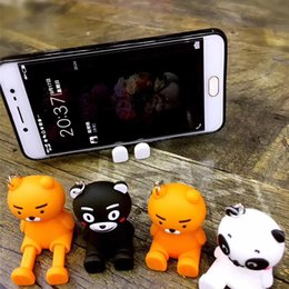 pop phone stand 2019 - 3D Cute Cartoon doll Cases Silicone Stand Holder for Smart Phone Rubber POP Cartoon for iPhone samsung huawei 5 5s 6s 7