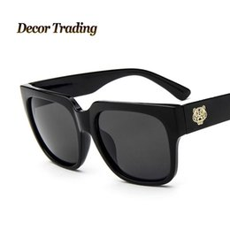 9f4bd855e1a Sunglasses Brands Logos Canada - Wholesale-2016 Fashion Designer Vintage  Round Circle Glasses Tiger LOGO