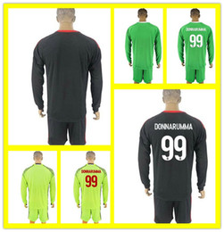 7895f2457 ... kid soccer club jersey f891c 1ab32  inexpensive soccer men full 2017 long  sleeve ac milan goalkeeper soccer jerseys 99 gianluigi donnarumma gabriel
