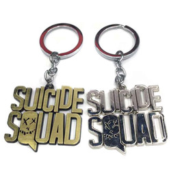 Movie Steel Canada - High Quality Suicide Squad Keychain Alloy Stainless Steel Key Chain Pendant Keyrings for man women gifts