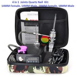 $enCountryForm.capitalKeyWord Australia - Fancier E Quartz Nail Electric Dab Nail Box Kit Quartz Nail Carb Cap 14 18 MM Male Temperature Controller Rig glass Bongs Fancier
