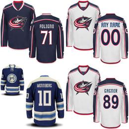 bec7c6b3 Youth Kids Columbus Blue Jackets Jersey 11 Matt Calvert 71 Nick Foligno 89  Sam Gagner Custom Hockey Jerseys Any Name and Any Number