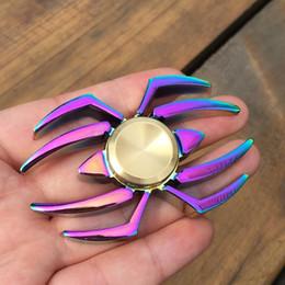 Hand spinner pk online shopping - Cheapest Colorful Spider EDC Fidget Spinner Metal Finger Spinner Hand Spinner for ADHD Relieve Anxiety Desk Toys Kids Gift PK Ircon Man
