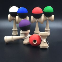 $enCountryForm.capitalKeyWord NZ - 18.5cm Kendama Ball Toy Double elasticity painting beech Wooden Japanese Traditional Funny Sword ball Game Education Toy Christmas gift