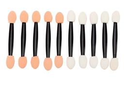 EyE shadow applicators spongE online shopping - Hot Double ended Sponge Eye Shadow Applicator Tool Disposable Eyeshadow Applicator Brush Cosmetic Tool For Women Lady