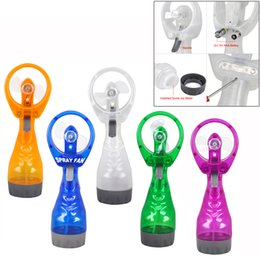 $enCountryForm.capitalKeyWord Canada - Wholesale- CUTE PORTABLE HAND HELD BATTERY POWER FAN AIR WATER MIST BOTTLE COOLING SPRAY-CAA