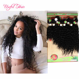 Lowest price human hair extensions peruvian loose wave 250 deep curly hair Brazilian human braiding 8bulks kinky curly blended weft hair on Sale