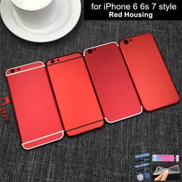 Mini Housing Canada - New 7 Style Housing For Iphone 6 6s Housing Metal Frame for Iphone 6 Plus 7 Mini Metal frame with imei Logo Red