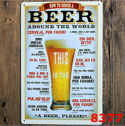Discount antique beer signs - Sign Painting Wine Beer Vintage Craft Tin Sign Retro Metal Painting Antique Iron Wall Poster Bar Pub Signs Wall Art Stic