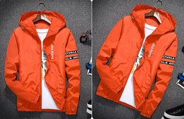 Slim White Sports Jacket Canada - Jacket Men Women Windbreaker Mens Jacket Fashion Hooded Jackets Outdoor Wear Sport Casual Slim Polyester Running Hiking Clothing D121