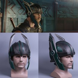 Thor Cosplay Máscara 2017 Thor 3 Ragnarök Capacete Chris Hemsworth Capacete Cosplay PVC Handmade Máscara Adereços em Promoção