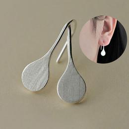 Vente en gros 5 paires / lot Mode Simple Design Pure 925 Sterling Silver Boucles D'oreilles D'eau Boucles D'oreilles En Argent Réel Sterling Silver Jewelry pendientes