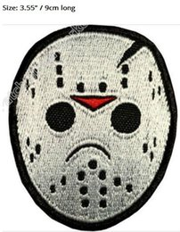 """$enCountryForm.capitalKeyWord NZ - 3.55"""" Jason Voorhees Mask Embroidered Patch Horror Movie Friday the 13th TV Series Costume Emblem applique iron on sew on badge"""