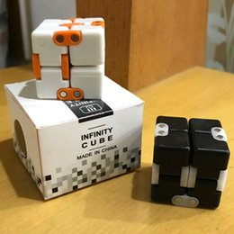 Hot toys material online shopping - Hot Sale Kickstarter Magic Cubes Square EDC Fidget Toys Novelty Infinity Cube For Adults Decompression Finger Toy Funny ABS Material mr B