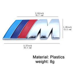 10 Unids / lote ABS Emblema de la Insignia Del Coche para M / M3 / M5 Insignia Potencia Sport Hood Boot Rear 3d Sticker Envío Gratis