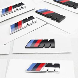 Estilo do carro Motorsport M Desempenho Do Corpo Do Lado Do Carro Adesivo Emblema para BMW E36 E39 E46 E60 E60 venda por atacado