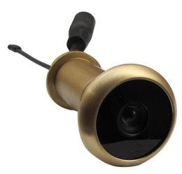 Chinese  5.8G 480TVL Wireless Door Peephole Camera Lens Pure Brass Material Door Camera 13.8mm Diameter 90 Degree VOA And 0.008lux 720X480pi manufacturers