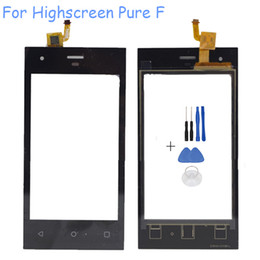 $enCountryForm.capitalKeyWord NZ - Wholesale- 4.0'' Touchscreen Sensor For Highscreen Pure F Cell Phone Touch Screen Digitizer Front Glass Panel Sensor Replacement With Tool