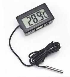 Venta al por mayor de Fuente de la fábrica de China, Termómetro Termógrafo Digital Refrigerador de Sonda LCD para Refrigerador-50 ~ 110 Grados Caliente y Nueva Venta