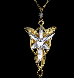 EvEnstar pEndant lord rings online shopping - Hot sales Lotr Lord Of The Rings Elf Princess Arwen Evenstar Pendants Twilight Elves Princess Silver Plated Pendant Neck Cosplay jewelry