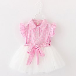 preppy clothing Canada - Summer Baby Girl Dresses Sunflower Princess Dress Kids Clothing Baby Girl TuTu Dress Cute Beach Skirt