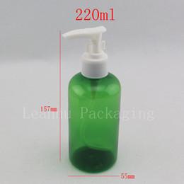 $enCountryForm.capitalKeyWord Canada - 220ml green empty shampoo pump plastic bottle ,lotion pump bottles ,shower gel pump bottles container for cosmetics packaging