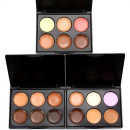 hot box types NZ - HOT Makeup Face Concealer Professional MINI 6 color Concealer plate in box FREE DHL