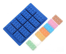 kitchen blocks Australia - Kitchen Wares Silicone Ice Tools Building Blocks Ice Molds Ice Cube Tray