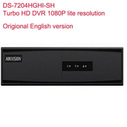 Dvr Channel Cameras NZ - Hikvision Original English version Turbo HD DVR DS-7204HGHI-SH SUPPORT HD-TVI Analog IP Camera 4ch Full channel@720P real-time