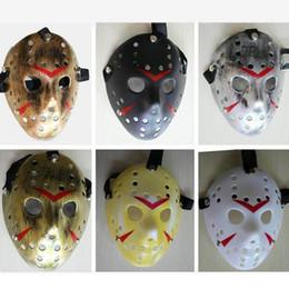 Black Jason Mask Canada - Black Friday NO.13 Jason Voorhees Freddy hockey festival party Halloween masquerade mask (adult size) 80gram