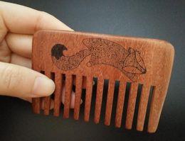 $enCountryForm.capitalKeyWord Canada - 2017 Pure handmade Wide wood comb designer professional health care massage comb beard comb hair Combs for gift