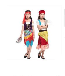 Red Indian Costumes Australia - Nifty And Gypsy Girl Party Dress National Children's Dress in Carnival Maquerade Performance Halloween Cosplay Costumes