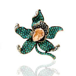 $enCountryForm.capitalKeyWord Canada - Rhinestone Gold Black Brooch, Green Orchid Broach, Black Sash Brooch, Black Wedding Brooches, Crystal Orchid Flower Broaches