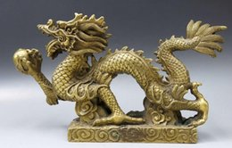 $enCountryForm.capitalKeyWord Canada - China brass sculpture carved fine copper Feng Shui dragon play bead Statue