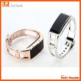 Digital Wrist Gps Canada - Bluetooth Luxury Smart Bracelet watch metal gold sliver Sync Wrist LED Digital Watch answer phone for IOS Android Samsung Smartphone htc D8